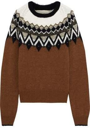 Vanessa Bruno Joleen Metallic Fair Isle Alpaca-blend Sweater