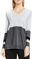 Vince Camuto V-Neck Color Block Sweater
