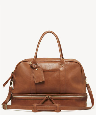 Sole Society Women's Mason Weekender Vegan Leather In Color: Cognac Bag From
