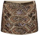 Embellished Python Skirt
