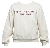 philosophy Women's White Cotton Sweatshirt.