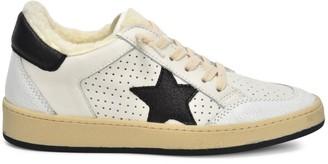 Vintage Havana Trust Faux Fur Dotted Leather Sneakers
