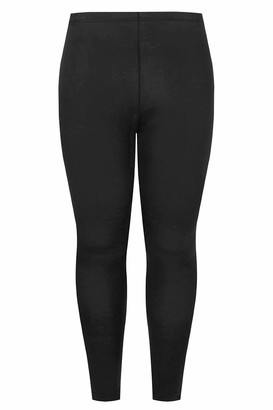 Yours Clothing Womens Leggings Soft Touch UK Plus Size Size 16 Black