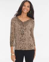 Chico's Animal Sequin Pullover
