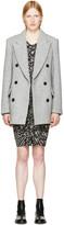 Isabel Marant Grey Herringbone Elley Coat
