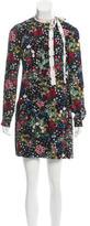 Valentino Floral Print Silk Dress