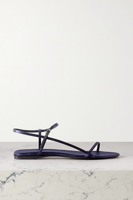 The Row Bare Satin Sandals - Midnight blue