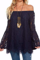 Chaser Peplum Lace Top