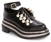 Jeffrey Campbell Women's 'Jagged' Crystal Embellished No-Lace Platform Oxford
