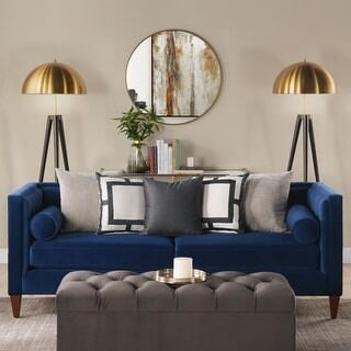 Carson Carrington Odhult Tufted Contemporary Tuxedo Sofa