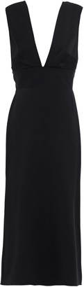 Victoria Beckham Flared Satin-crepe Midi Dress