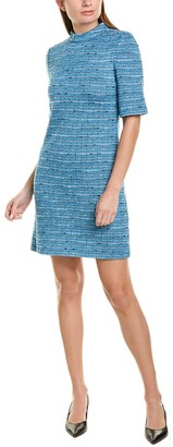 St. John Space Dye Wool-Blend Sheath Dress