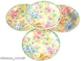 Barker Brothers Set 4 Barker Bros Tudor Ware Chintz Trinkets Coasters or small dishes