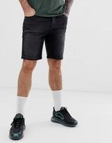 Asos Design DESIGN 12.5oz skinny denim shorts in vintage washed black