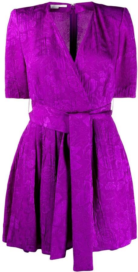 Stella McCartney Floral Jacquard Belted Playsuit