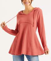 Simple By Suzanne Betro Simple by Suzanne Betro Women's Tunics 101DUSTY - Dusty Red Empire Waist Hoodie - Women & Plus