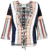 Forte Forte woven stripe jacket - women - Cotton/Polyamide/Spandex/Elastane - 3