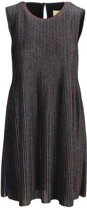 Golden Goose Glitter Stripe Mini Dress