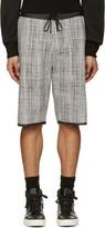 Public School Black and White Tweed Shorts