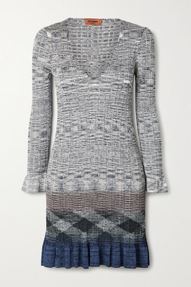 Missoni Ribbed Crochet-knit Mini Dress - Gray