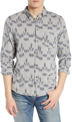 Levi's Levis Made And Crafted Ikat Standard Fit Long Sleeve Shirt
