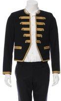 Saint Laurent Wool Open Front Military Jacket