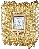La Mer Women's LMACW5001 Analog Display Japanese Quartz Gold Watch