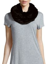 Saks Fifth Avenue Rabbit Fur Infinity Scarf