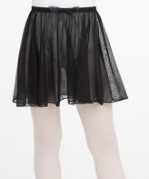Capezio Black Bow Chiffon Skirt - Toddler & Girls