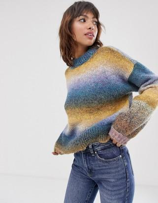 Vero Moda space dye jumper-Green