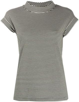 Aspesi striped mock neck T-shirt