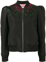 Gucci sequin embellished jacket - women - Silk/Cotton/Polyamide/Metallic Fibre - 40