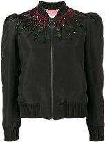 Gucci sequin embellished jacket - women - Silk/Cotton/Viscose/Acetate - 40
