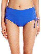 Caribbean Joe Women's Adjustable Brief Bikini Bottom