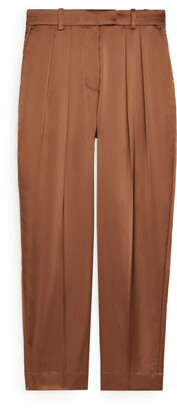 Arket Tapered Satin Trousers