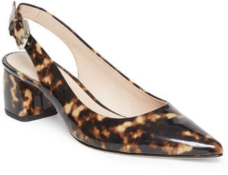 Kate Spade Mika Tortoise-Printed Leather Slingback Pumps