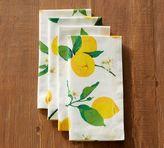 Pottery Barn Painted Lemon Napkin, Set of 4