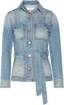Frame Le Patch Pocket belted denim jacket