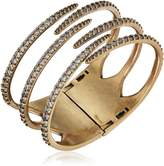 "Nicole Miller Artelier"" Tall Claw Cross Over Pave Hinge Cuff Bracelet"