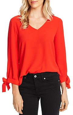 CeCe by Cynthia Steffe Tie-Cuff Top