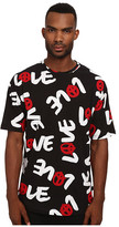 Love Moschino Love Print Over Fit Tee