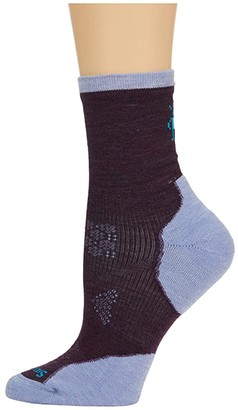 Smartwool PhD(r) Run Cold Weather Mid Crew (Black) Women's Crew Cut Socks Shoes