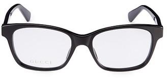 Gucci Logo 52MM Rectangular Optical Glasses
