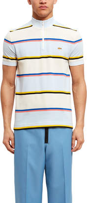 Opening Ceremony Lacoste For Striped Mock Neck Polo