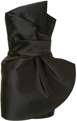 The 2Nd Skin Co. Asymmetric Neck Draped Dress