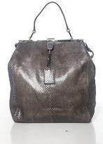 Jil Sander Brown Leather Pocket Front Buckle Closure Double Handle Tote Handbag