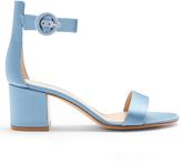 Gianvito Rossi Versilia block-heel satin sandals