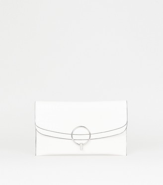 New Look Faux Croc Ring Front Clutch Bag