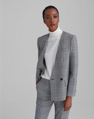 Club Monaco Patterned Collarless Fashion Blazer