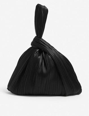 Nanushka Jen pleated large vegan-leather tote bag